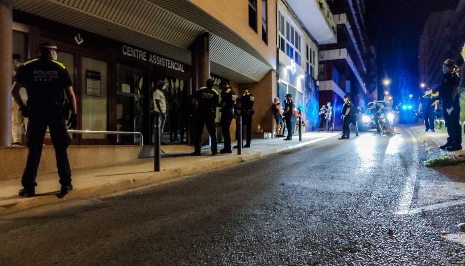 Imatge del dispositiu policial a Tortosa.