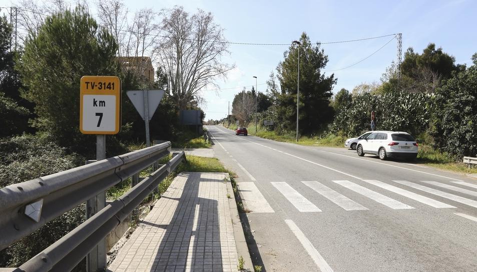 Una imatge d'arxiu de la carretera de Cambrils
