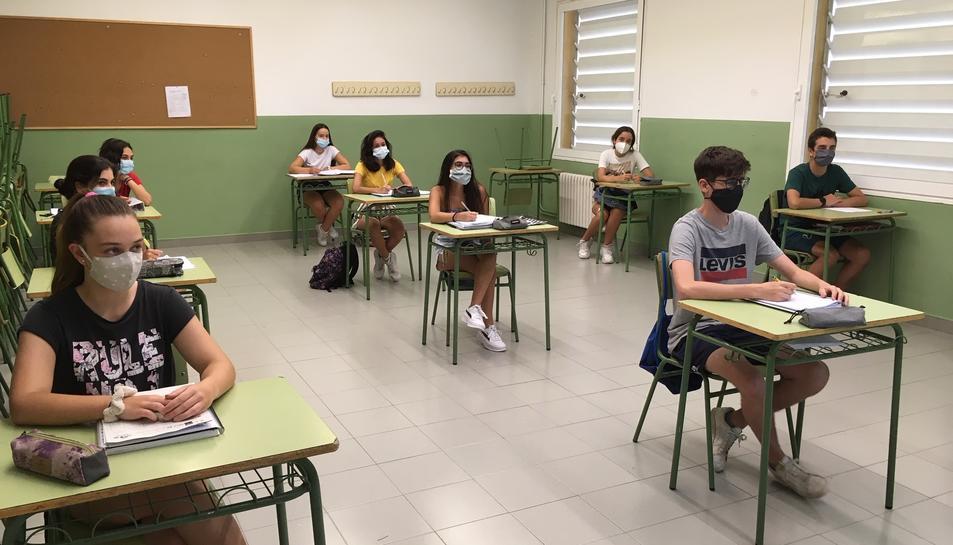 Una de les activitats del curs de francès del Gabriel Ferrater.