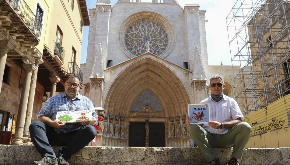 Roger Roig i Hugo Prades amb les novetats de la col·lecció 'Patufet' per aquest estiu.