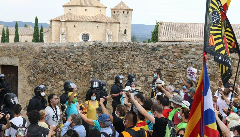 Visita dels Reis d'Espanya al Monestir de Poblet