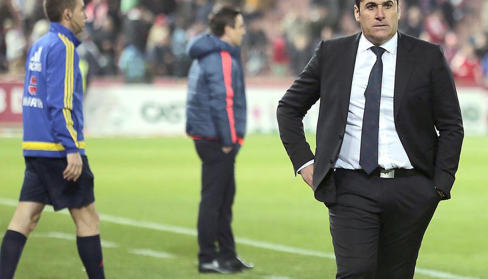 Imatge d'arxiu de l'entrenador del Fuenlabrada José Ramón Sandoval.