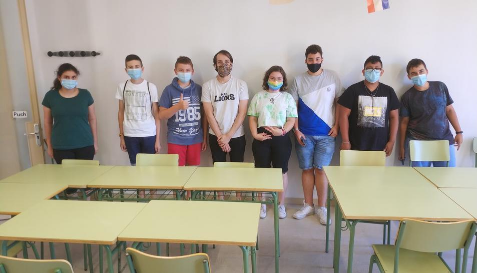 Grup de joves que ha participat als tallers.
