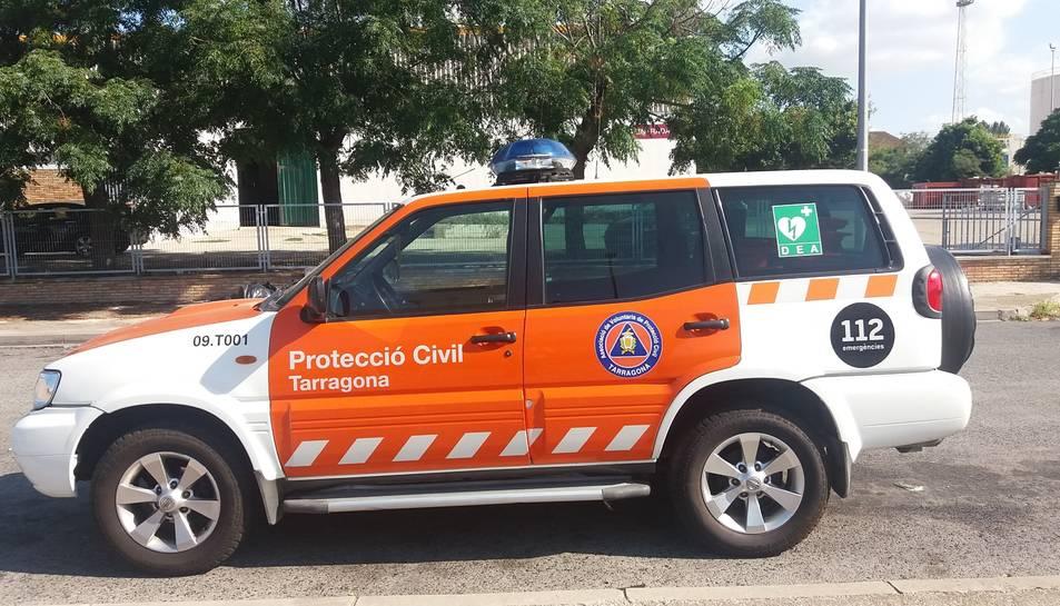 Imatge d'un vehicle de Protecció Civil.