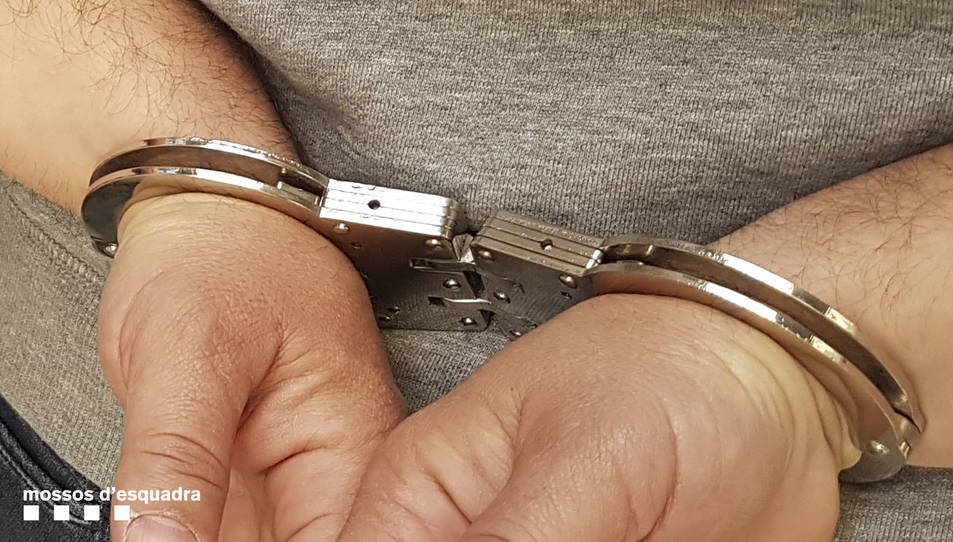 Imatge d'arxiu d'un detingut
