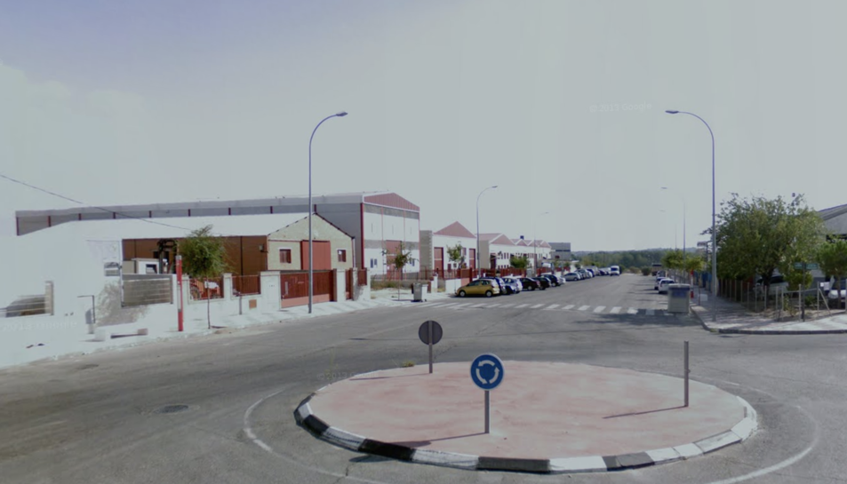 Zona del polígon del Álamo on es van produir els incidents.