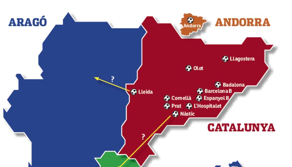 Tots els equips catalans no podran competir en el mateix subgrup.