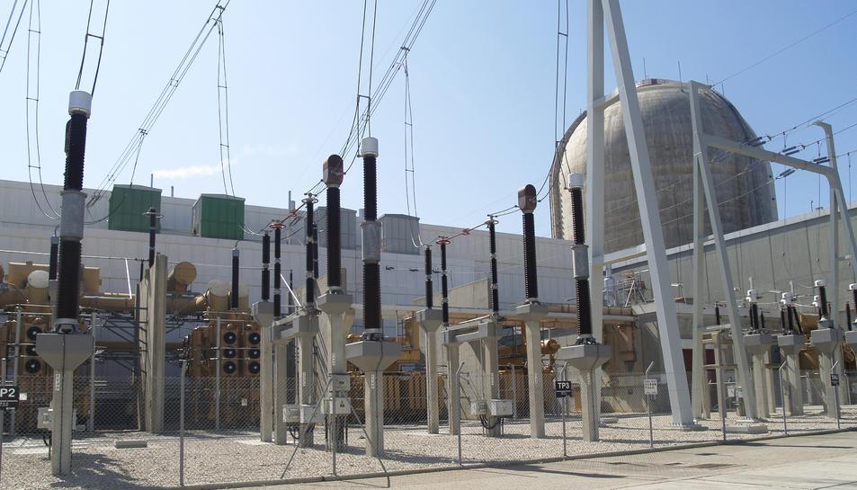 Imatge de la Central Nuclear Vandellós II.