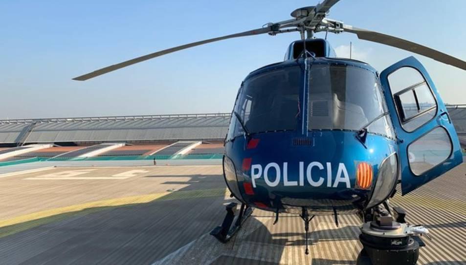 Imatge d'arxiu de l'helicòpter dels Mossos d'Esquadra.