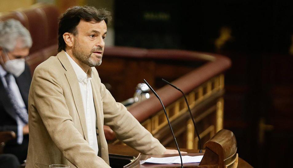 El portaveu d'En Comú Podem, Jaume Asens, al Congrés.