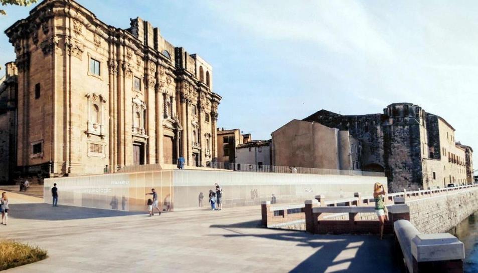 Imatge virtual de la plaça de la Catedral de Tortosa quan acabi la urbanització.