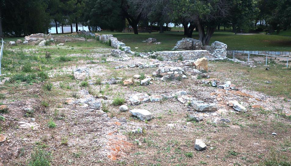 Restes d'una vila romana al Parc de la Ciutat.