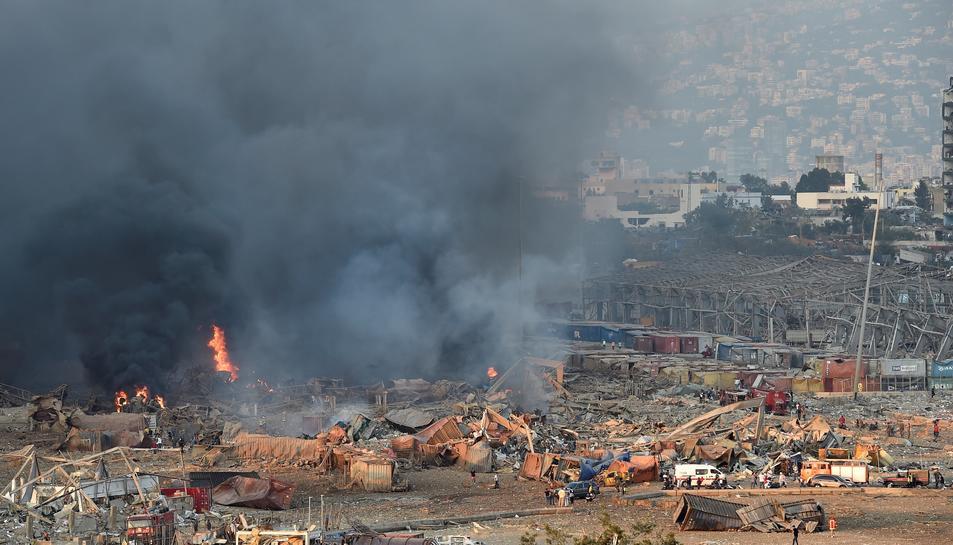 Imatge de la zona on ha tingut lloc l'explosió.