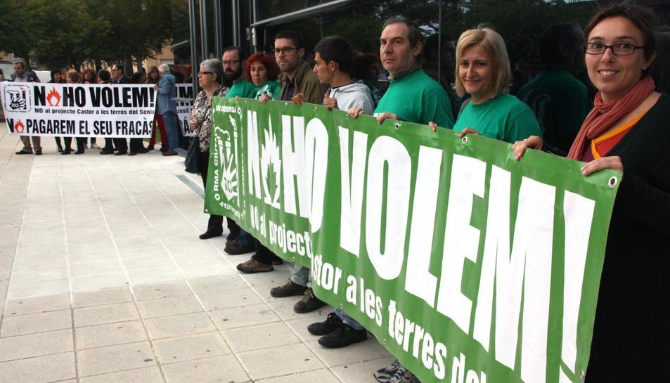 Imatge d'una protesta de la Plataforma del Sénia.