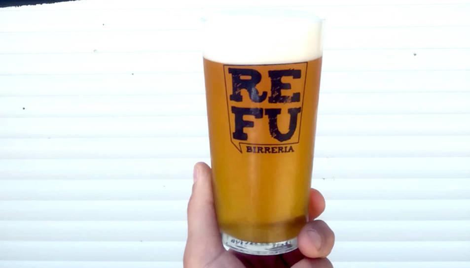 Imatge d'una cervesa de la cervesera local Refu de la Val d'Aran.