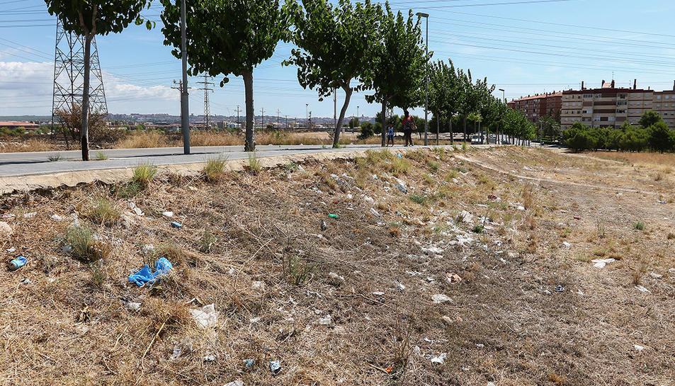 Els plàstics envaïxen aquesta zona dels barris de Ponent.