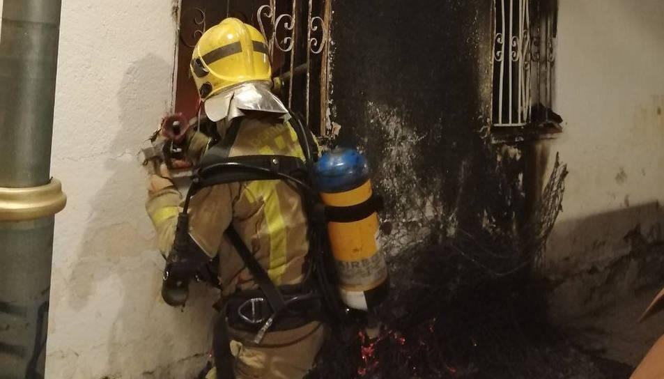 Imatge de l'habitatge afectat pel foc a Bonavista.