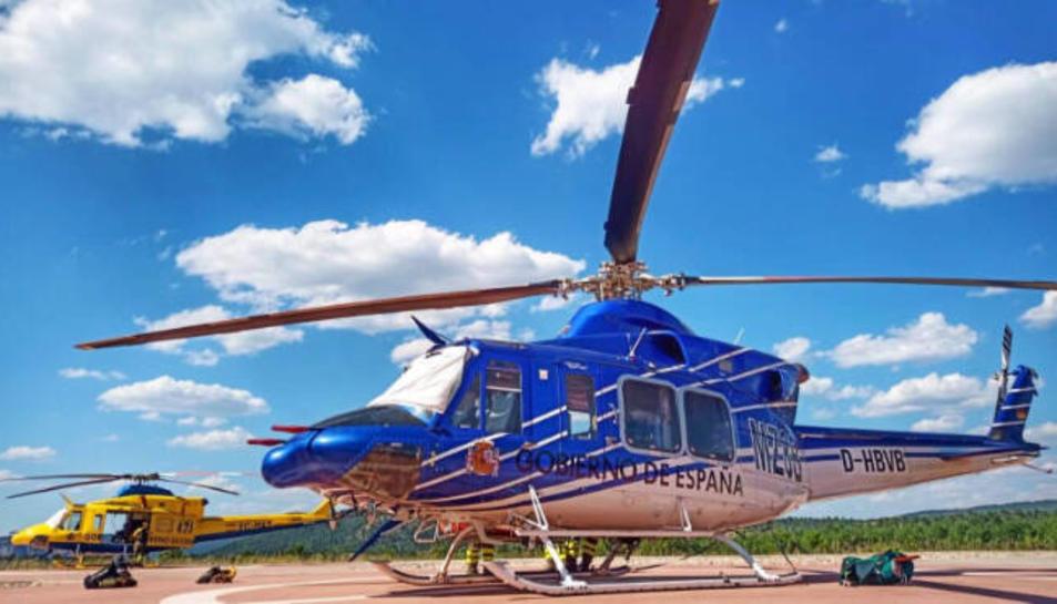 Imatge de l'helicòpter robat.