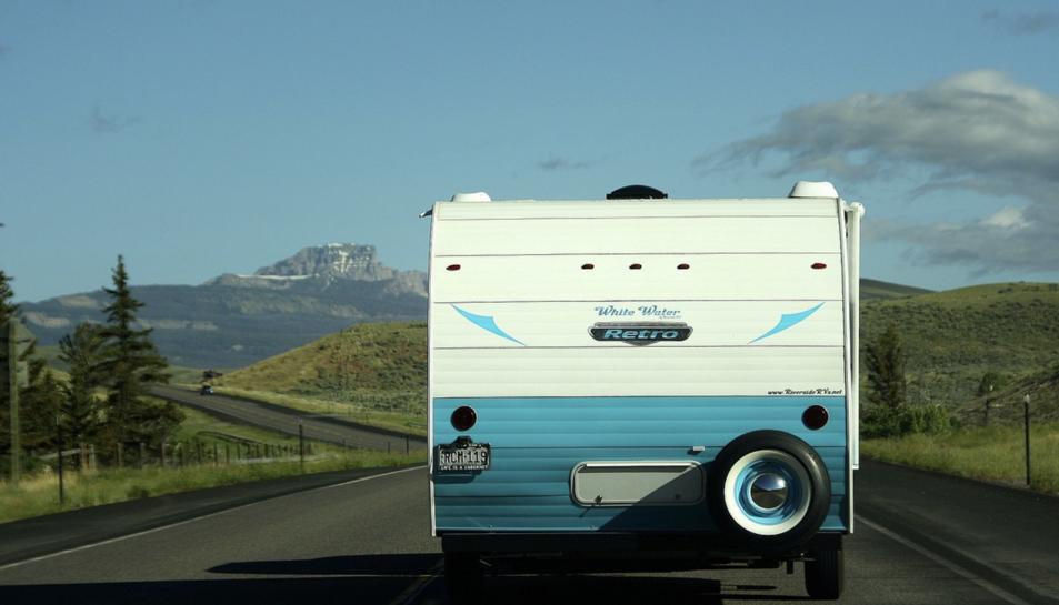 Imatge d'arxiu d'una caravana.