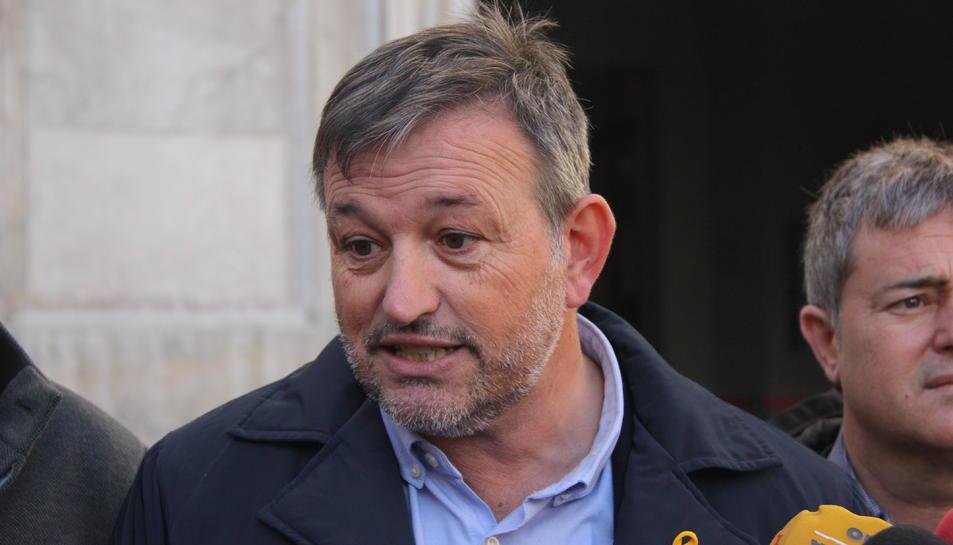 Primer pla del president de l'AMI, Josep Maria Cervera