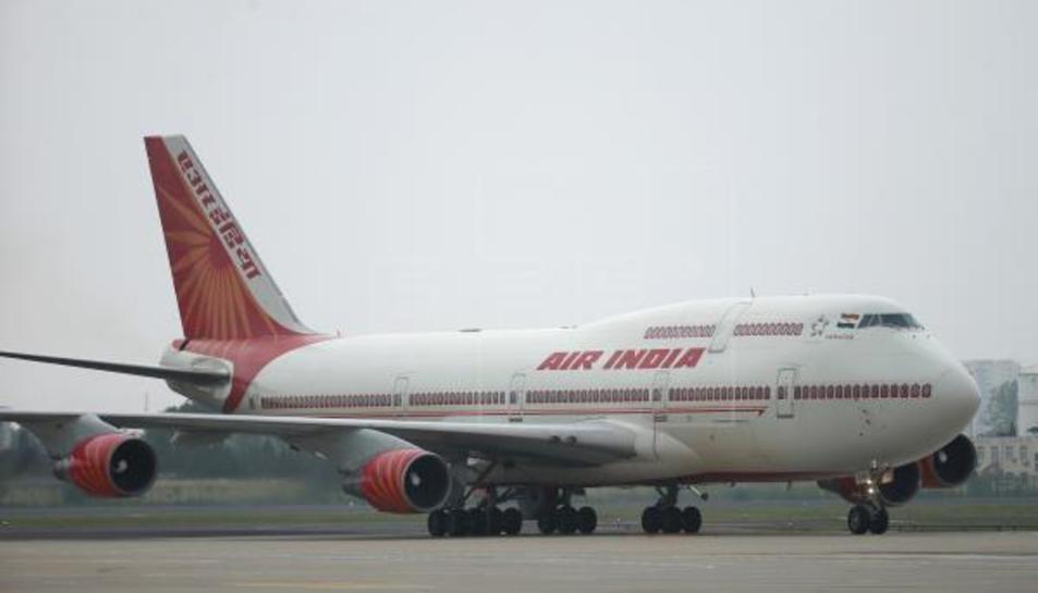 Imatge d'arxiu d'un avió de la companyia Air India.