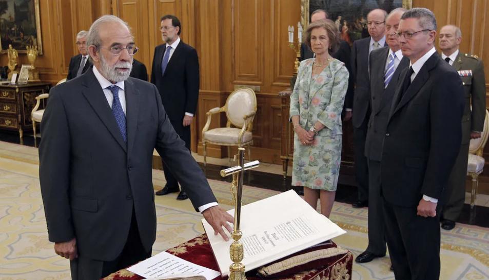 Fernando Valdés Dal-Ré, durante la jura o promesa de su cargo,en julio de 2012.