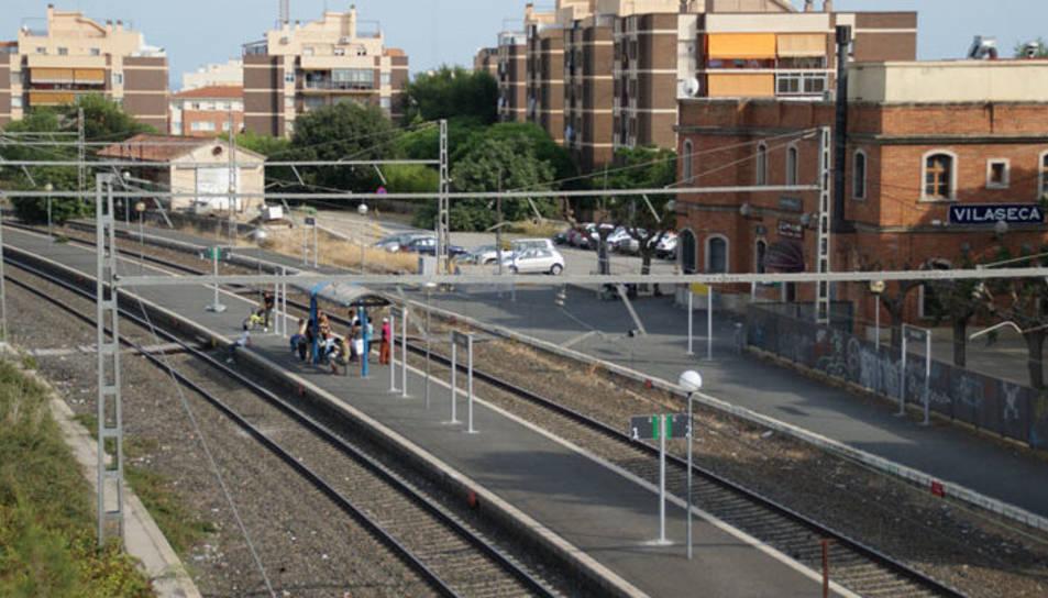 Imatge del baixador de trens de Vila-seca.