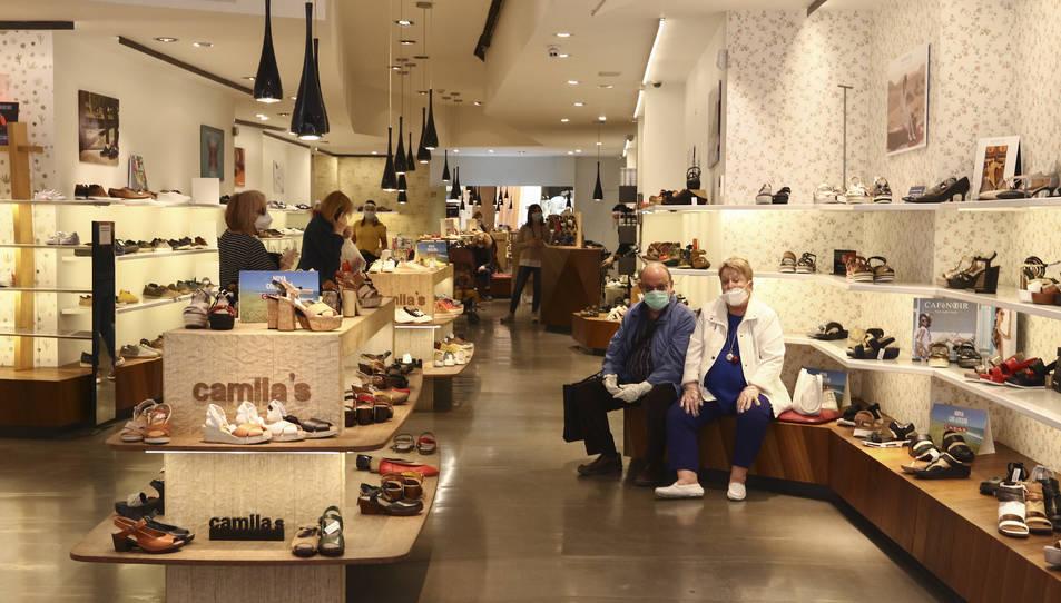 L'interior d'una botiga del nucli, en una imatge d'arxiu.