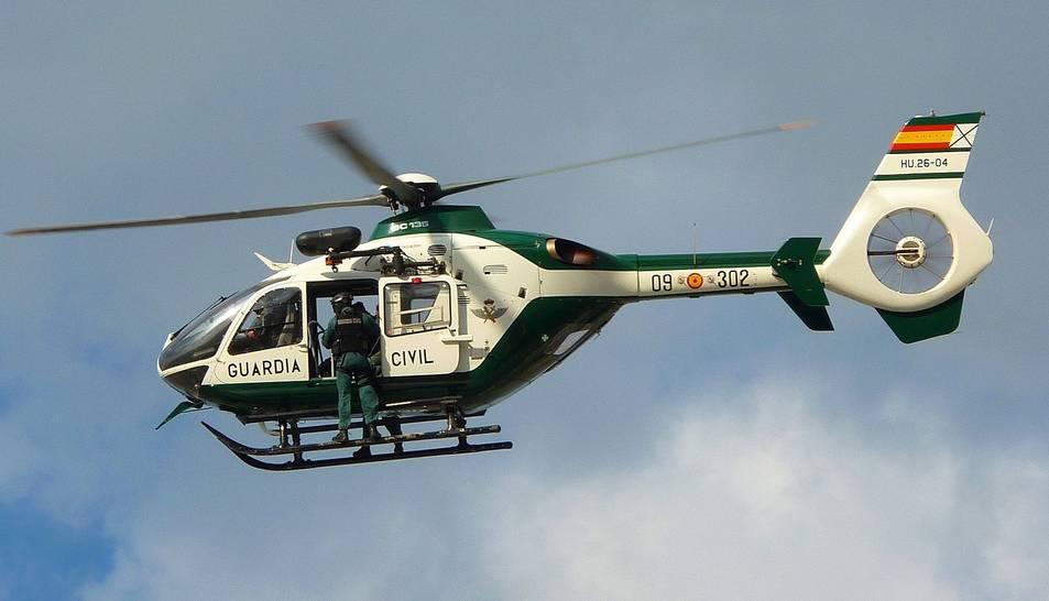 Imatge d'un helicòpter de la Guàrdia Civil.