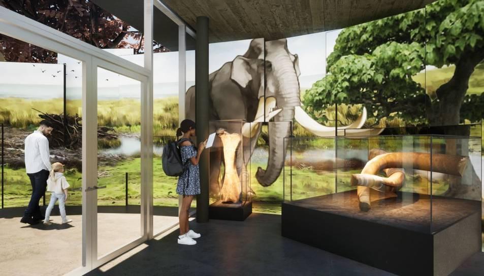 Imatge virtual d'un dels espais del futur centre d'interpretació del Barranc de la Boella, a la Canonja.
