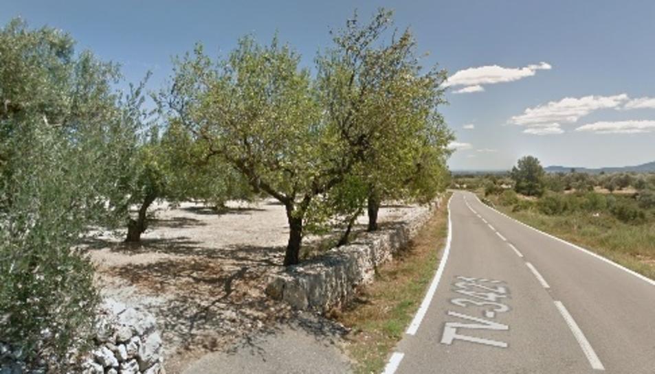 La carretera TV-3421 on es va produir l'accident ahir a la nit