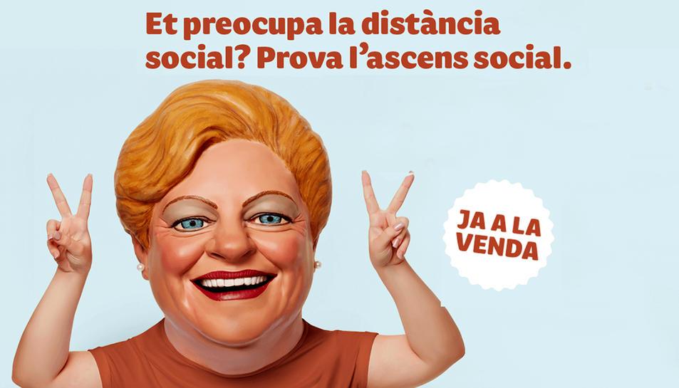 Cartell de la campanya que la Grossa de Catalunya ha retirat, on es vincula l'ascens social amb la compra de loteria