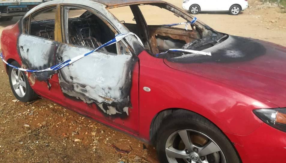 Imatge del vehicle cremat.