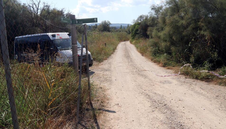 Pla general del camí de la partida de Sebes de Flix, on hi ha la masia en la qual s'ha trobat el cos sense vida d'un home.