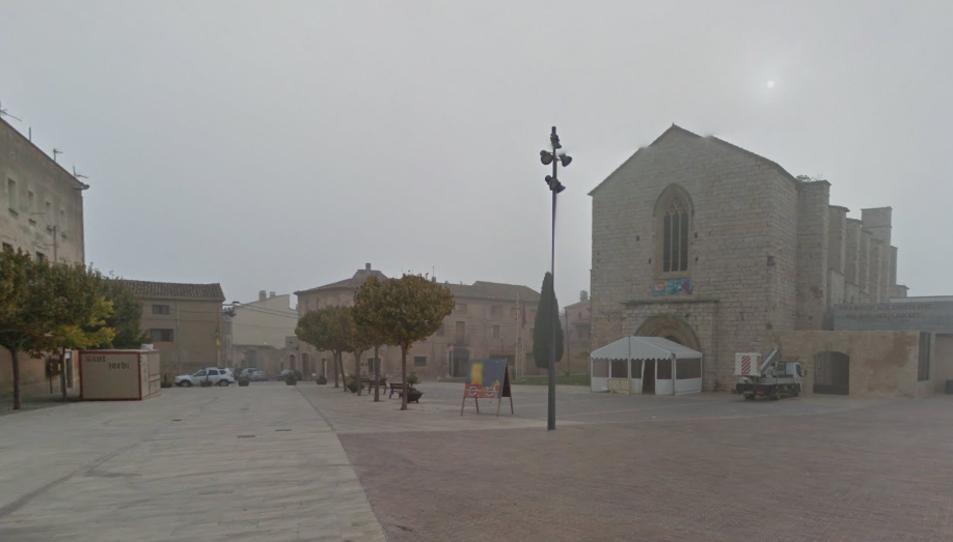 Imatge de la plaça de Sant Francesc de Montblanc.