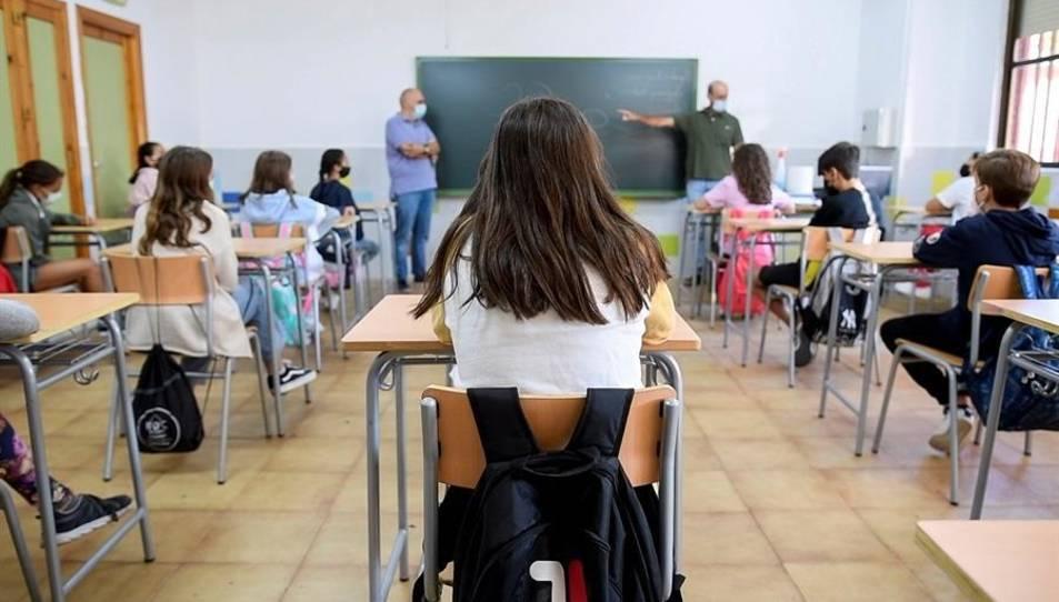 Alumnes de l'Institut d'Educació Secundària Princesa Galiana de Toledo.