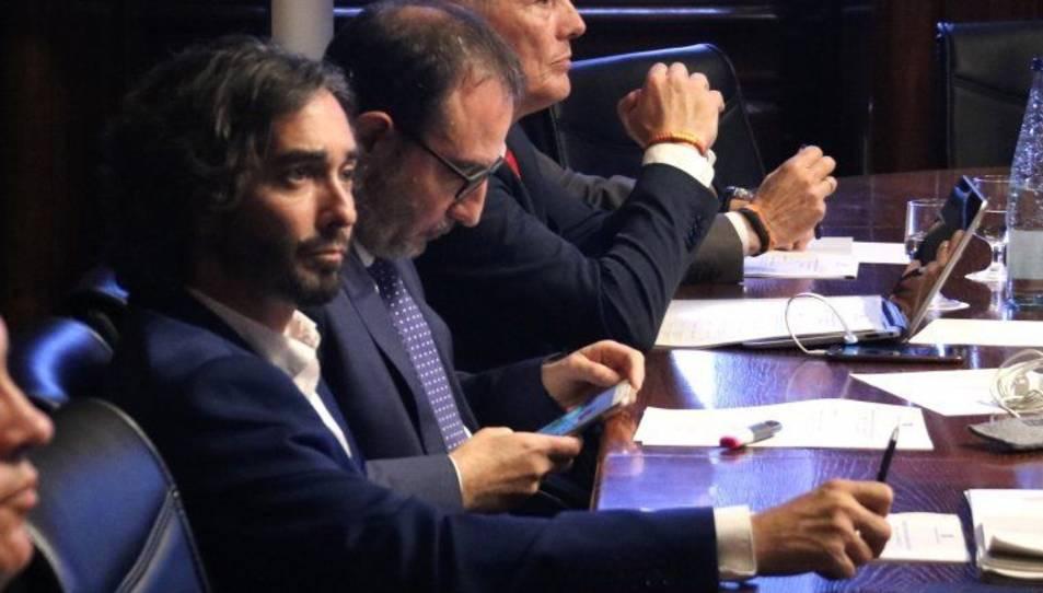 Carles Castillo, en una de les intervencions en la comissió d'Interior   ACN