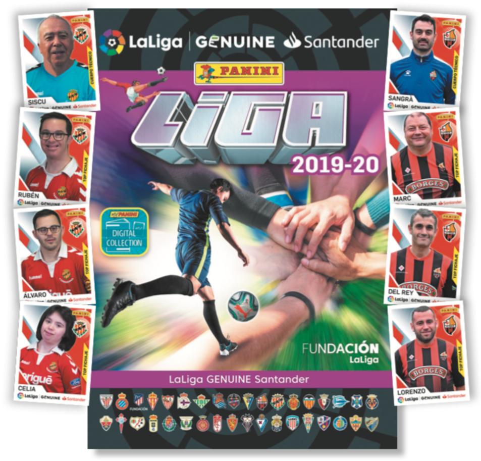 L'àlbum dels jugadors de Panini de LaLiga Genuine.