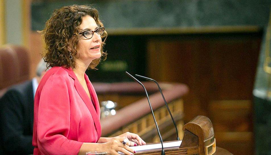 La ministra d'Hisenda, María Jesús Montero, en una imatge d'arxiu.