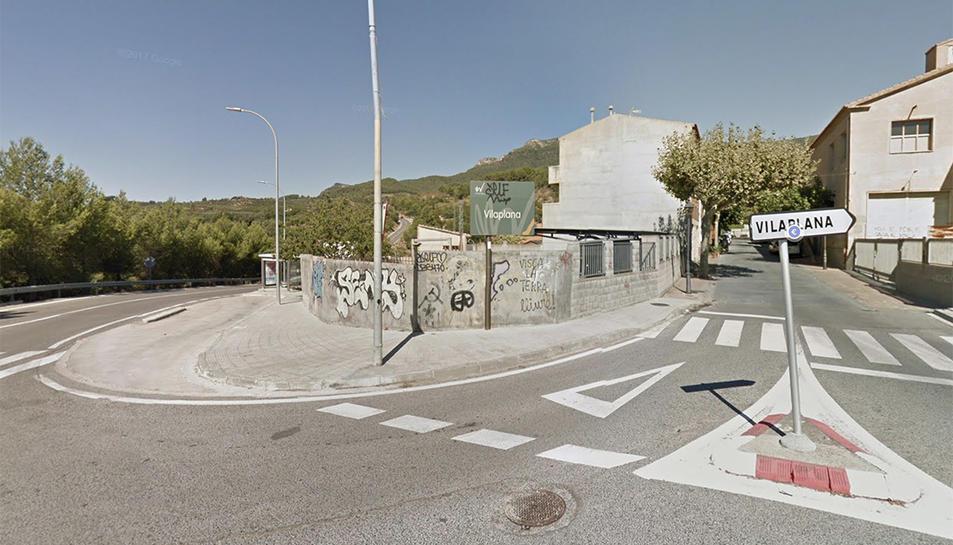 Imatge d'un dels accessos al muniicpi de Vilaplana.