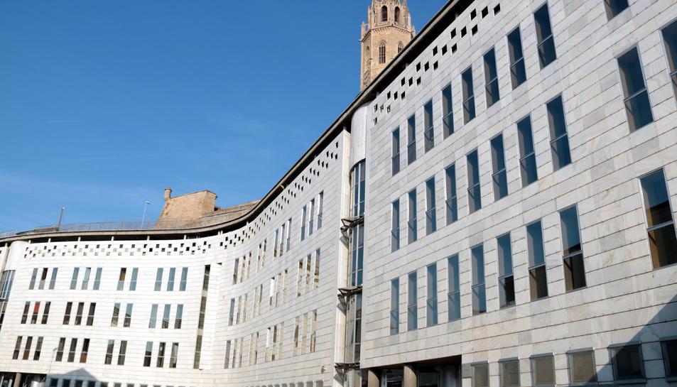 Pla general de l'edifici dels jutjats de Lleida.