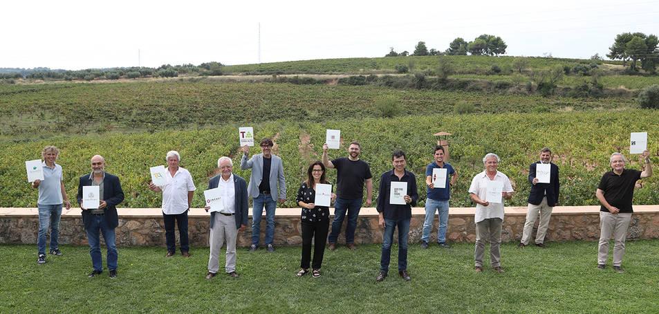 Imatge de família dels presidents de les Denominacions d'Origen catalanes