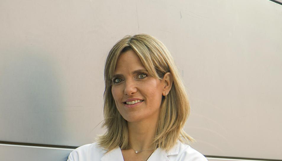 La doctora Cristina Suárez, investigadora del Grup de Tumors Genitourinaris del Vall d'Hebron Institut d'Oncologia (VHIO) i oncòloga mèdica a l'Hospital Universitari Vall d'Hebron
