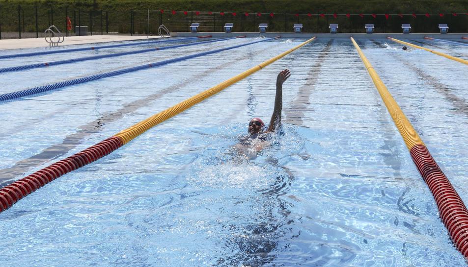 La climatització permetrà utilitzar la piscina tot l'any.
