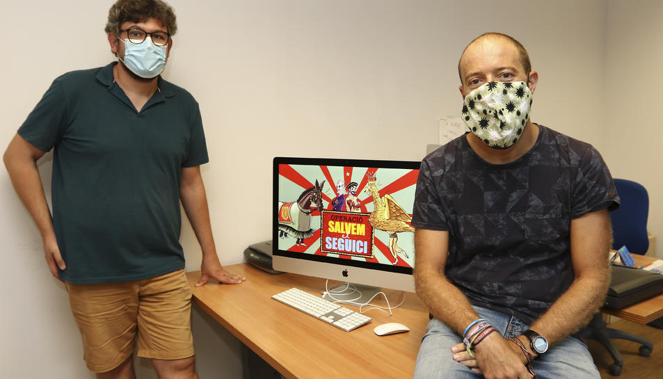 Jordi Salvadó i Joan Carles Blanch, creadors del joc.