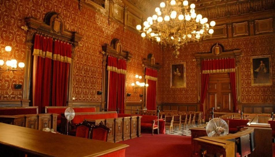 Imatge d'arxiu del Saló de Plens de l'Ajuntament de Tarragona.
