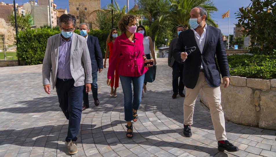 Montserrat i Fernández en la seva visita a la direcció del Partit Popular de Tarragona.