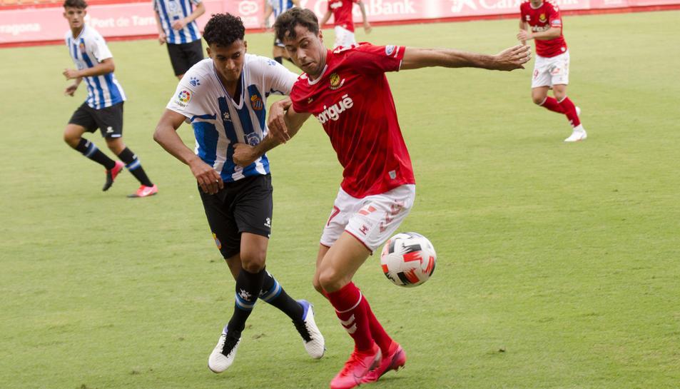 Pedro Martín, durant el Nàstic-Espanyol B del passat dissabte al Nou Estadi (2-2).