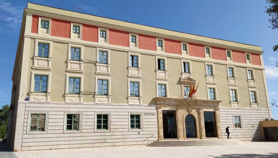 Pla general de l'edifici de la Diputació de Tarragona.