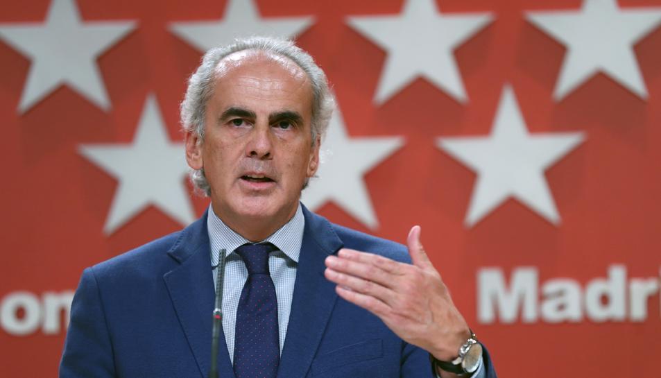 El conseller de Sanitat madrileny, Enrique Ruiz Escudero.